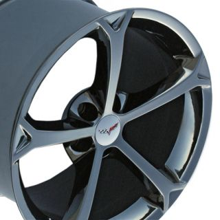 "18"" 19"" 9 5 12 Black Chrome Corvette Grand Sport Rims Fit Corvette"