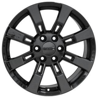 "20"" Fit Cadillac Escalade Black Chrome Wheels Rims GMC Yukon Suburban Tahoe"
