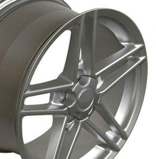 "18"" Silver Corvette ZO6 Style Wheels C4 C5 Rims Fit Camaro Firebird"