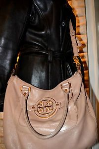 Tory Burch Handbag Amanda Brown Leather Messenger Cross Hobo Highend Sexy