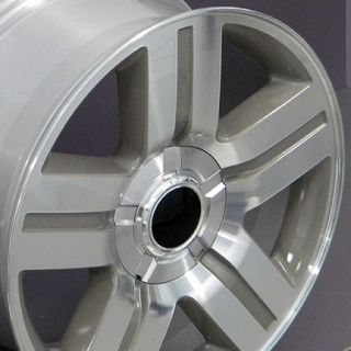 "20"" Silver Texas Truck Wheels Rims Fit Chevrolet GMC Cadillac Set"