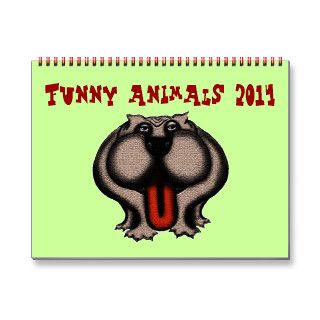 Funny cute cartoon animals 2014 calendar