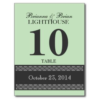 MINT ICE CREAM Wedding Table Number Card Reception Post Cards