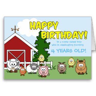 Barnyard Babies Birthday Greeting Cards