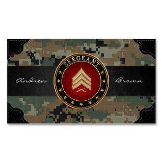 [154] Sergeant (Sgt) Rank Insignia Business Card Templates