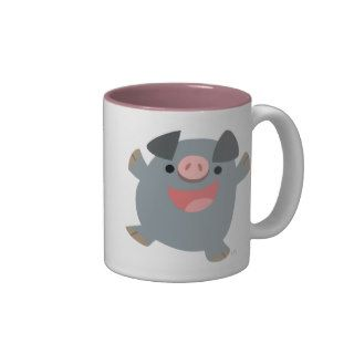 Cute Cartoon Bouncy Pig Mug