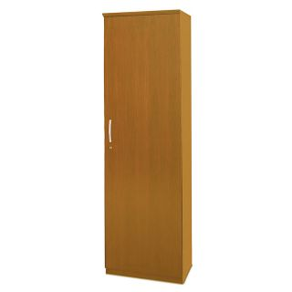 Mayline Group Napoli Wardrobe Cabinet With Hinges On Right 80 H x 23 58 W x 19 D Golden Cherry