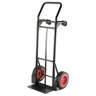 Global Hardlines Convertible Hand Truck 500 600 Lb Capacity 47 15 H x 20 25 W x 16 45 D BlackRed