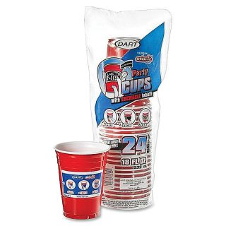 Dart Red Etchable Party Cups 18 Oz Pack Of 24