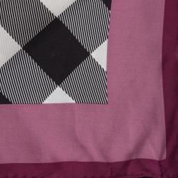 Burberry Exploded Check Silk Square Scarf Burberry Designer Scarves & Wraps