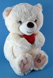 Hallmark Talking Shaggy Plush TEDDY BEAR with Heart #1LPR1608 Year 2009: Toys & Games