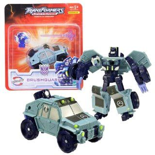 Hasbro Year 2007 Transformers UNIVERSE Series Scout Class 4 Inch Tall Robot Action Figure   Decepticon BRUSHGUARD with Chest Burst Missile Launcher, 1 Missile and Earth Planet Cyber Key (Vehicle Mode SUV) Electronics