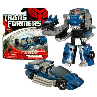 Hasbro Year 2007 Exclusive Series 1 Transformers Movie Scout Class 4 Inch Tall Robot Action Figure   Autobot CLOCKER with Blaster and Cyber Key (Vehicle Mode: Race Car): Toys & Games