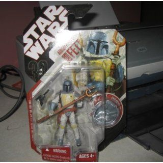 Star Wars Year 2007 Animated Debut Series 4 Inch Tall Action Figure   BOBA FETT with Twin Prong Spear, Blaster Pistol and Exclusive Collector Coin: Toys & Games