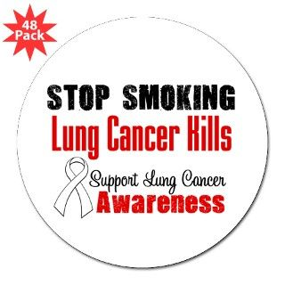 Stop Smoking Lung Cancer Round Sticker by hopeanddreams