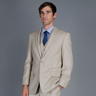 Men's 2 Button Vested Suit Suits