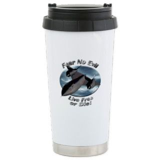 SR 71 Blackbird Ceramic Travel Mug by AirplaneShirts2