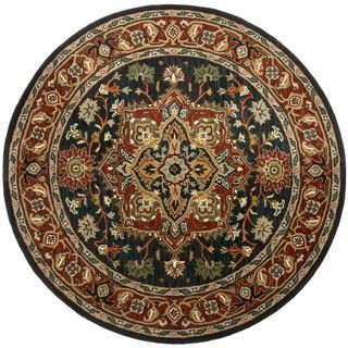 Hand tufted Heriz Blue Wool Rug (8' Round) St Croix Trading Round/Oval/Square