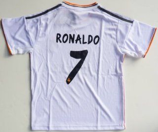 2013/2014 REAL MADRID HOME RONALDO 7 FOOTBALL SOCCER KIDS JERSEY : Sports Fan Jerseys : Sports & Outdoors