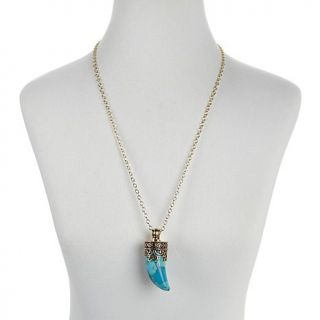 "Studio Barse Gemstone Bronze ""Taurus"" Pendant with 30"" Chain"
