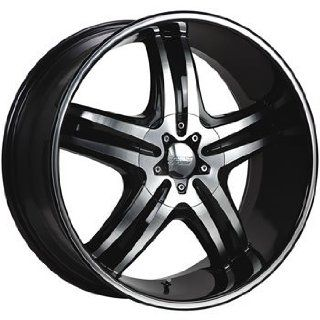 Cruiser Alloy Impulse 16x7.5 Machined Black Wheel / Rim 5x110 & 5x115 with a 38mm Offset and a 73.00 Hub Bore. Partnumber 908MB 6754338: Automotive