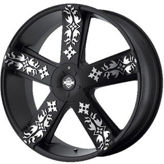 KMC KM669 20x8.5 Black Wheel / Rim 5x4.5 & 5x4.75 with a 18mm Offset and a 72.60 Hub Bore. Partnumber KM66928504718: Automotive