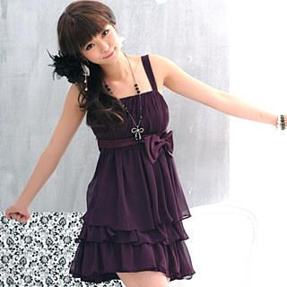 Sleeveless Layered Chiffon Party Dress   59 Seconds