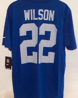 NFL Mens New York Giants David Wilson Short Sleeve Name & Number Tee (Blue, Adult Medium): Everything Else