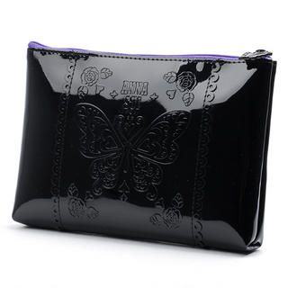 Black Patent Cosmetic Bag, 1 pc   Anna Sui