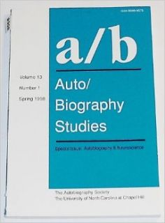 a/b:Auto/Biography Studies (a/b, Volume 13, Number 1): Rebecca Hogan: Books