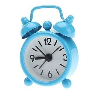 "3"" Numbers & Letters Pattern Twin Bells Desktop Alarm Clock Black: Electronics"