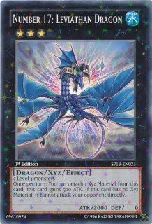 Yu Gi Oh!   Number 17: Leviathan Dragon (SP13 EN023)   Star Pack 2013   Unlimited Edition   Starfoil Rare: Toys & Games