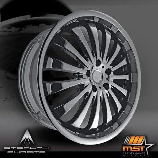 MST 593 20 Black Chrome Wheel / Rim 5x100 with a 42mm Offset and a 70.64 Hub Bore. Partnumber 593 27580 Automotive