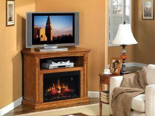 Fairmont Electric Fireplace Entertainment Center   Antique Oak   Gel Fuel Fireplaces