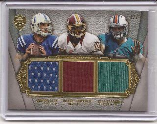 2012 Topps Supreme Football Andrew Luck Robert Griffin III (Rg3) Ryan Tannehill Russell Wilson Brandon Weeden Brock Osweiler 6 X Relic Serial Number 02/20 Unique Rare: Sports Collectibles