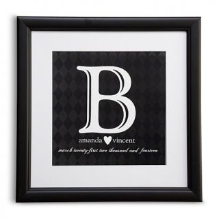Personal Creations Initial Wedding Print   Black