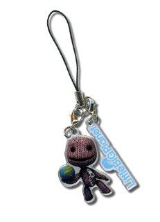 Little Big Planet: Sack Boy Holding Earth and Logo Phone Charm: Toys & Games