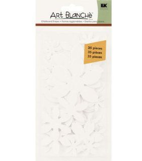 Ek Success Art Blanche Chipboard Shapes, Letters and Numbers, Daisy 35 Piece: Arts, Crafts & Sewing