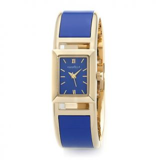 Caravelle New York by Bulova Ladies' Blue and Goldtone Bangle Watch