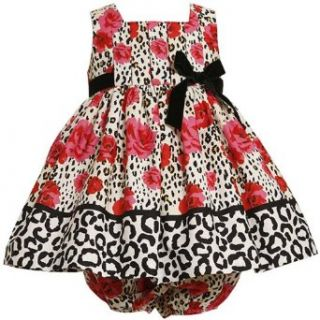 Size 18M BNJ 5500B 2 Piece RED IVORY BLACK ROSE LEOPARD ANIMAL PRINT Special Occasion Flower Girl Party Dress,B15500 Bonnie Jean BABY/INFANT Clothing
