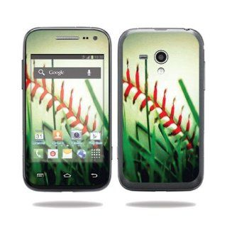 Protective Vinyl Skin Decal Cover for Samsung Galaxy Rush Cell Phone M830 Boost Mobile Sticker Skins Softball: Computers & Accessories