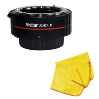 Nikon D5100 2x Teleconverter (4 Elements) + 33 Street Camera Microfiber Cleaning Cloth  Digital Slr Camera Lenses  Camera & Photo