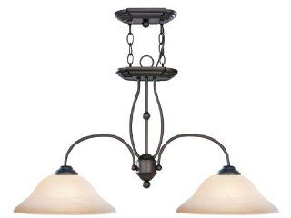 Livex Lighting 4172 07 Island Pendant with Honey Alabaster Glass Shades, Bronze: Home Improvement