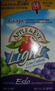 Esio Beverage System E pak Apple and Eve Light Juice, Grape, 3 Ounce : Powdered Soft Drink Mixes : Grocery & Gourmet Food