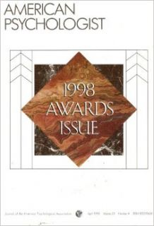 American Psychologist: Awards Issue   Volume 53, Number 4, April 1998: Raymond D. Fowler: Books