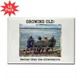 Senior Citizen Funny Rectangle Magnet (10 pack) by noveltystuff