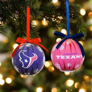 NFL LED Ornament 6 piece Boxed Gift Set   Houston Texans