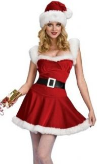 Sexy Mrs Santa Claus Helper Christmas Holiday Costume: Clothing