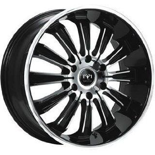 Motiv Maximus 22x9.5 Chrome Black Wheel / Rim 6x5.5 with a 35mm Offset and a 108.00 Hub Bore. Partnumber 405CB 2298435 Automotive