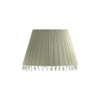Laura Ashley SBD413 Aida 13.5 in. Wide Barrel Lamp Shade, Sage Green Ribbons with Beads, B8580: Home Improvement